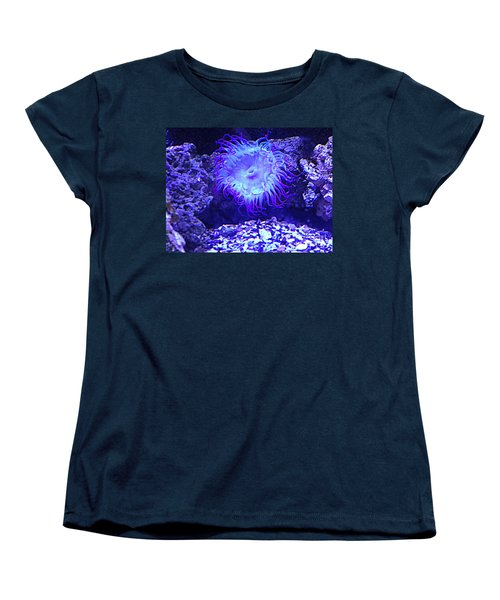 Predatory Terrestrial Sea Anemone Women's T-Shirt (Standard Cut) by Richard W Linford