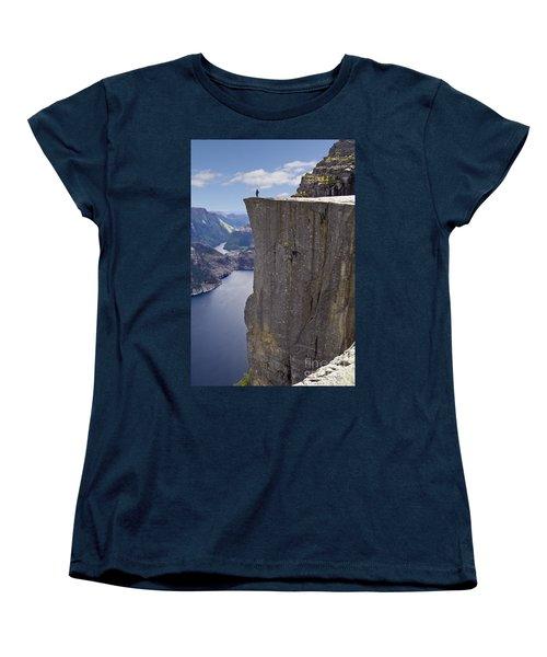 Preikestolen Women's T-Shirt (Standard Cut) by Heiko Koehrer-Wagner