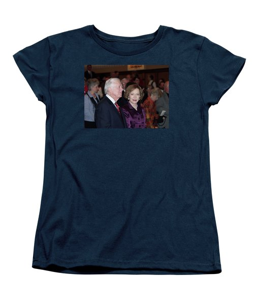 Women's T-Shirt (Standard Cut) featuring the photograph President And Mrs. Jimmy Carter Nobel Celebration by Jerry Battle