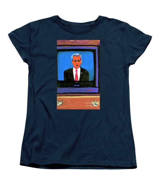 President George Bush Debate 2004 Women's T-Shirt (Standard Cut) by Candace Lovely