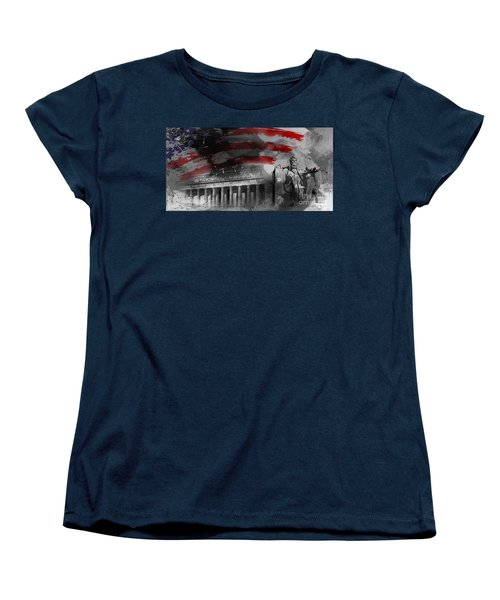 Women's T-Shirt (Standard Cut) featuring the painting President Lincoln  by Gull G