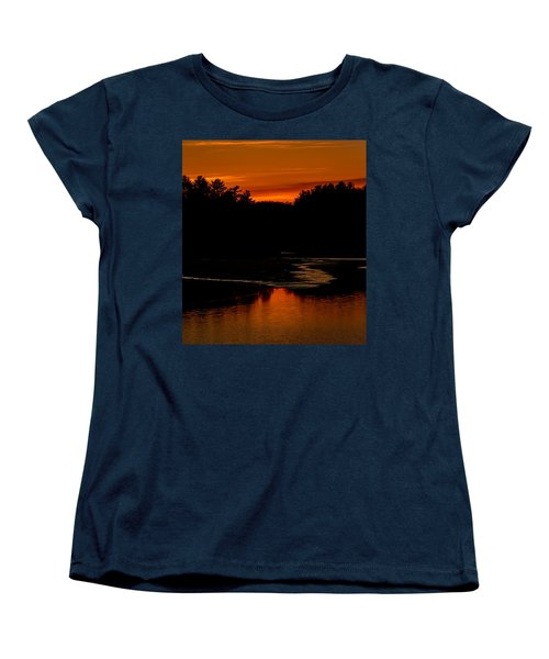 Presumpscot Sunset No.101 Women's T-Shirt (Standard Cut) by Mark Myhaver