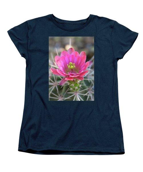 Women's T-Shirt (Standard Cut) featuring the photograph Pretty In Pink Hedgehog  by Saija Lehtonen