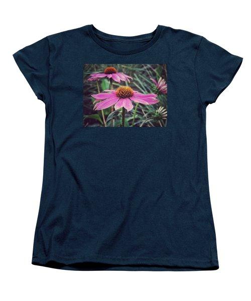 Women's T-Shirt (Standard Cut) featuring the photograph Pretty Pink Flower Parasol by Karen Stahlros