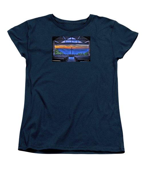 Pretty Place Chapel Sunrise 777  Women's T-Shirt (Standard Cut) by Reid Callaway