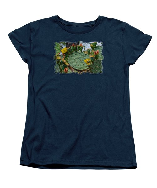 Prickly Pear Flowers H35 Women's T-Shirt (Standard Cut) by Mark Myhaver