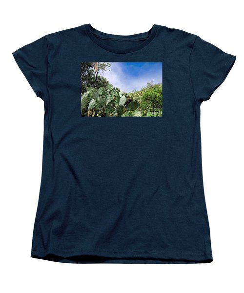 Prickly Pear Hillside Women's T-Shirt (Standard Cut) by Gina Savage
