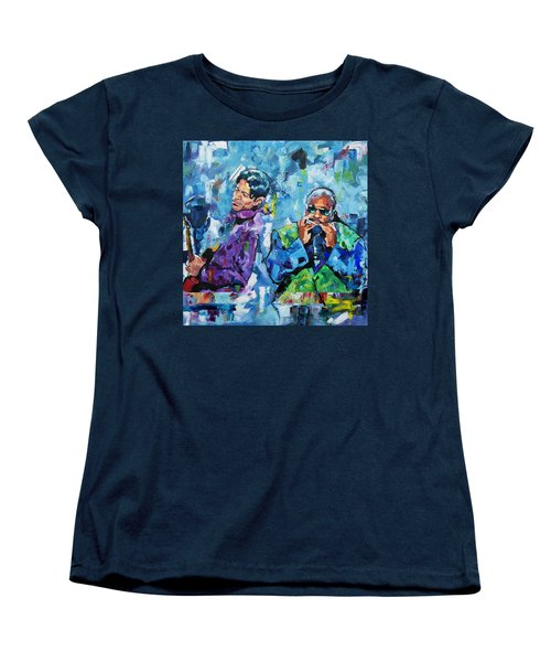 Women's T-Shirt (Standard Cut) featuring the painting Prince And Stevie by Richard Day