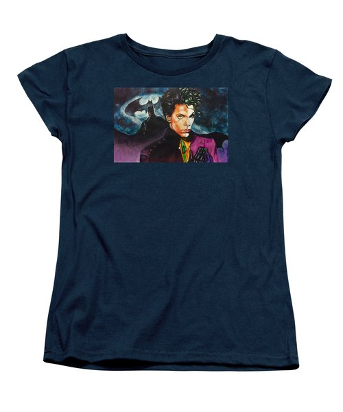Women's T-Shirt (Standard Cut) featuring the painting  Prince Batdance by Darryl Matthews