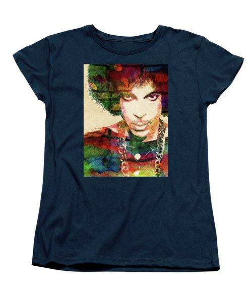 Prince Women's T-Shirt (Standard Cut) by Mihaela Pater