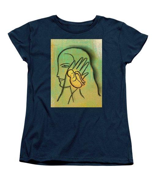 Women's T-Shirt (Standard Cut) featuring the painting Pro Abortion Or Pro Choice? by Leon Zernitsky