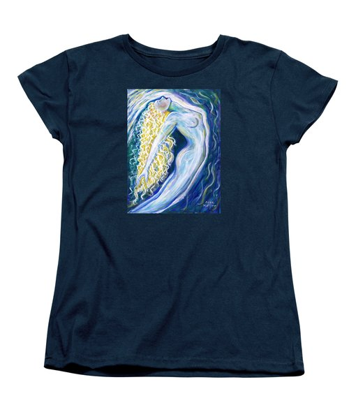 Women's T-Shirt (Standard Cut) featuring the painting Probing The Depths by Anya Heller