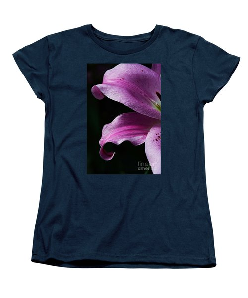 Profile In Pink Women's T-Shirt (Standard Cut) by Cindy Manero