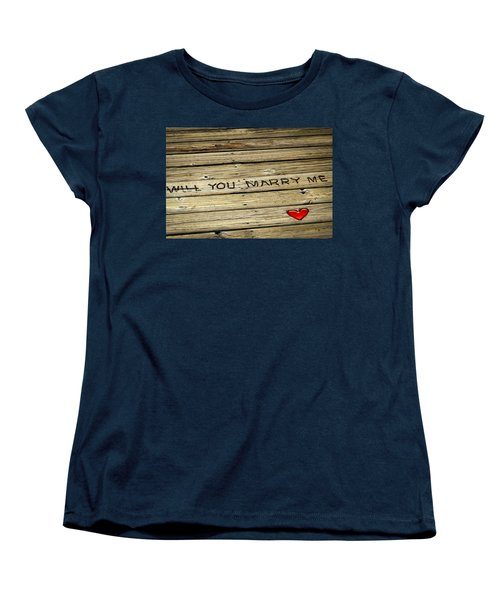 Women's T-Shirt (Standard Cut) featuring the photograph Propose To Me by Carolyn Marshall