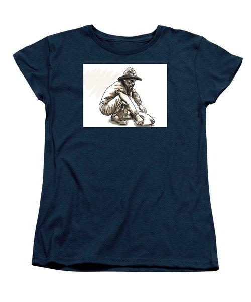 Women's T-Shirt (Standard Cut) featuring the drawing Prospector by Antonio Romero