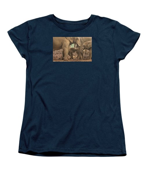 Women's T-Shirt (Standard Cut) featuring the photograph Protecting The Babies by Gary Hall