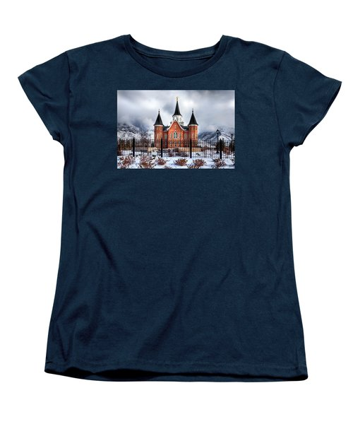 Provo City Center Temple Lds Large Canvas Art, Canvas Print, Large Art, Large Wall Decor, Home Decor Women's T-Shirt (Standard Cut) by David Millenheft