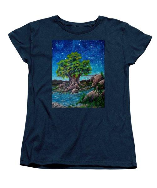 Women's T-Shirt (Standard Cut) featuring the painting Psalm One by Matt Konar