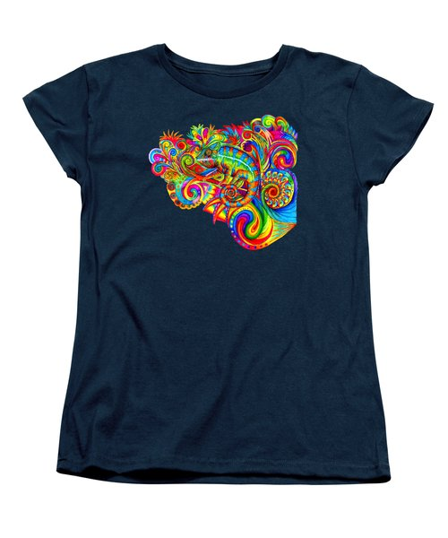 Psychedelizard Women's T-Shirt (Standard Cut) by Rebecca Wang