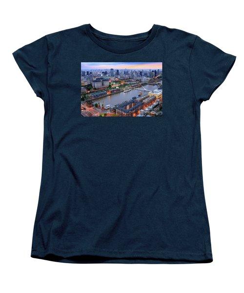 Puerto Madero Pier 3 Women's T-Shirt (Standard Cut) by Bernardo Galmarini