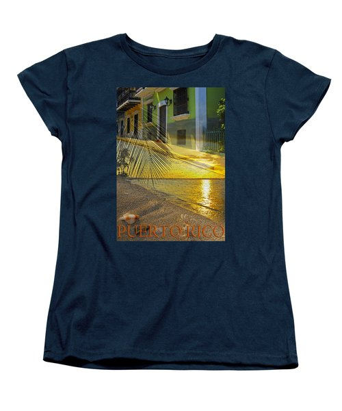 Puerto Rico Collage 3 Women's T-Shirt (Standard Cut) by Stephen Anderson