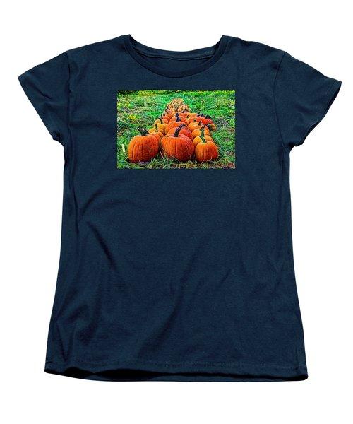 Pumpkin Patch Women's T-Shirt (Standard Cut) by Dale R Carlson