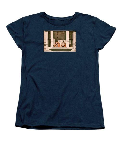 Pumpkins Of The Past Women's T-Shirt (Standard Cut) by JAMART Photography