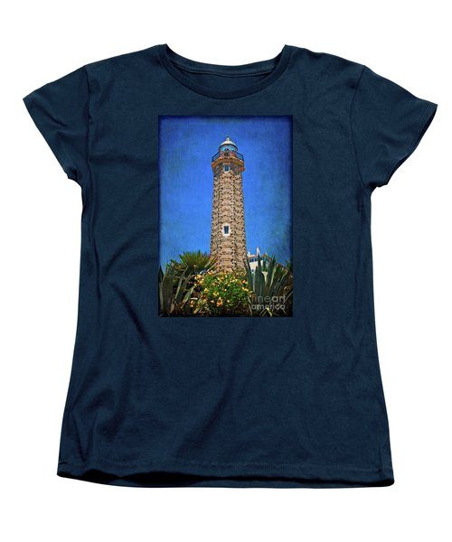 Women's T-Shirt (Standard Cut) featuring the photograph Punto Doncela Lighthouse by Mary Machare