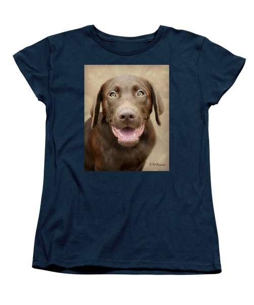 Puppy Power Women's T-Shirt (Standard Cut) by Kathy M Krause