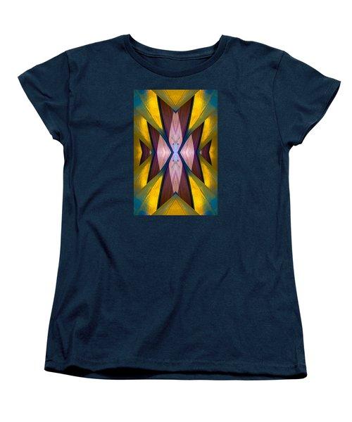 Pure Gold Lincoln Park Wood Pavilion N89 V1 Women's T-Shirt (Standard Cut) by Raymond Kunst