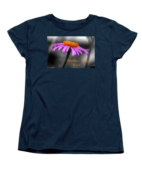 Women's T-Shirt (Standard Cut) featuring the photograph Purple And Orange Coneflower Mothers Day Brunch by Shelley Neff