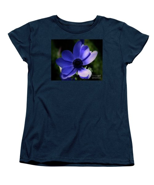 Women's T-Shirt (Standard Cut) featuring the photograph Purple Anemone by Stephen Melia