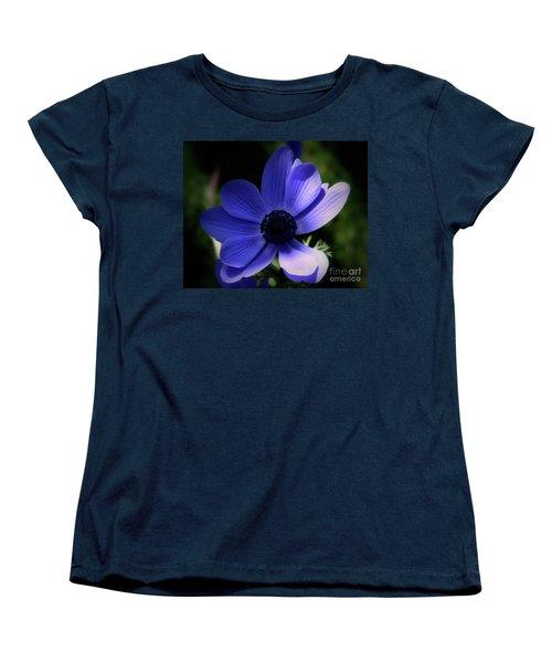 Purple Anemone Women's T-Shirt (Standard Cut) by Baggieoldboy