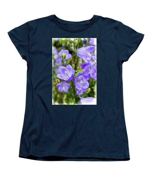 Purple Bell Flowers Women's T-Shirt (Standard Cut) by Joann Copeland-Paul