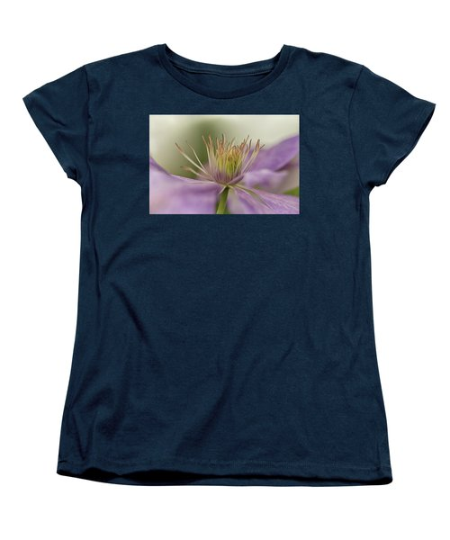 Purple Clematis Macro Women's T-Shirt (Standard Cut) by Jacqi Elmslie