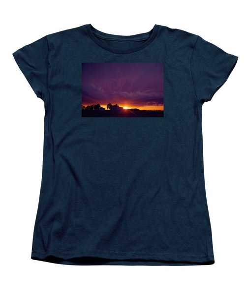 Purple Clouds Women's T-Shirt (Standard Cut) by Toni Hopper