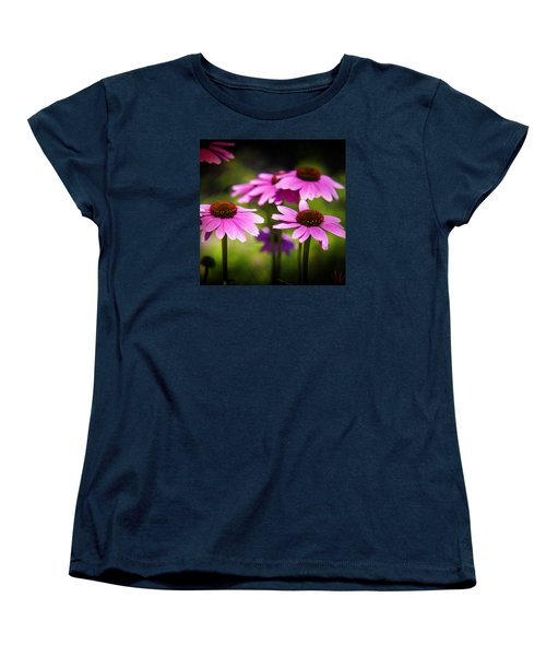 Purple Coneflowers Women's T-Shirt (Standard Cut) by Milena Ilieva