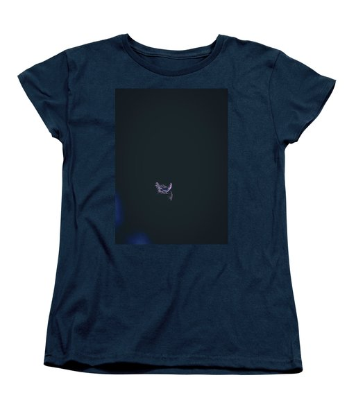 Women's T-Shirt (Standard Cut) featuring the photograph Purple Feather1 by Timothy Latta