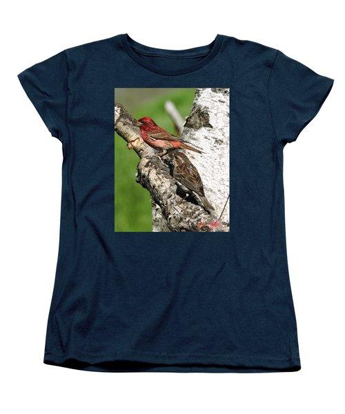 Purple Finches Women's T-Shirt (Standard Cut)