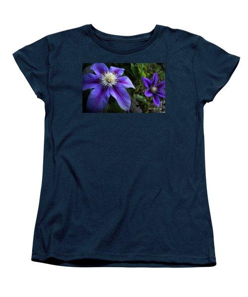 Purple Flowers Women's T-Shirt (Standard Cut) by Brian Jones