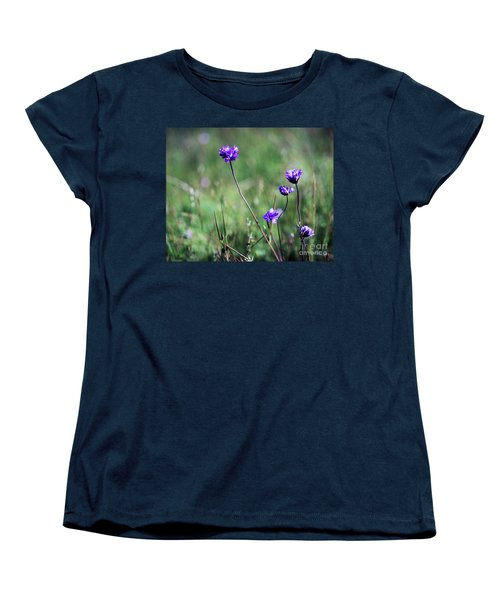 Women's T-Shirt (Standard Cut) featuring the photograph Purple Flowers by Jim and Emily Bush