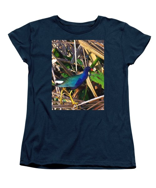Purple Galinule 000 Women's T-Shirt (Standard Cut) by Chris Mercer