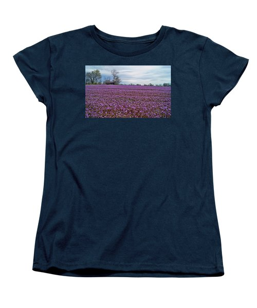 Women's T-Shirt (Standard Cut) featuring the photograph Purple Haze by Cricket Hackmann