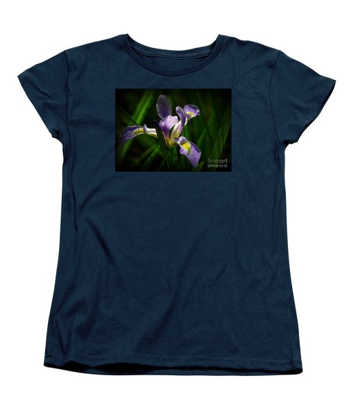 Purple Iris Women's T-Shirt (Standard Cut) by Lisa L Silva