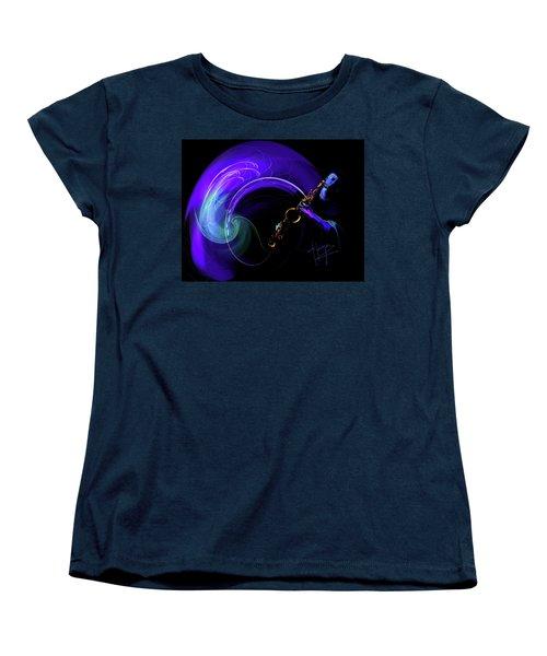 Purple Moon Women's T-Shirt (Standard Cut) by DC Langer