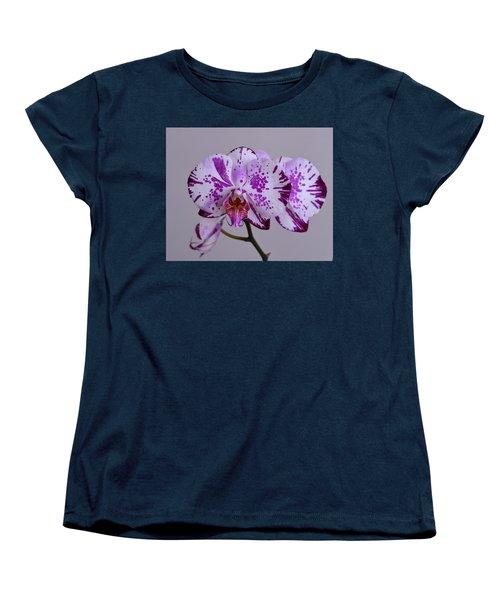 Purple Moth Orchid Women's T-Shirt (Standard Cut) by Kathy Eickenberg
