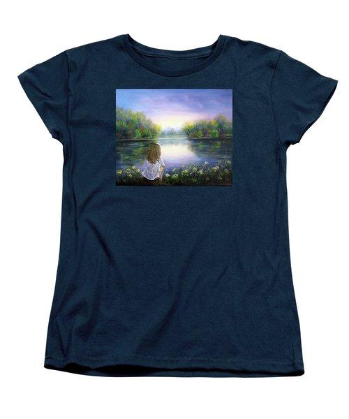 Purple Peace Women's T-Shirt (Standard Cut) by Vesna Martinjak