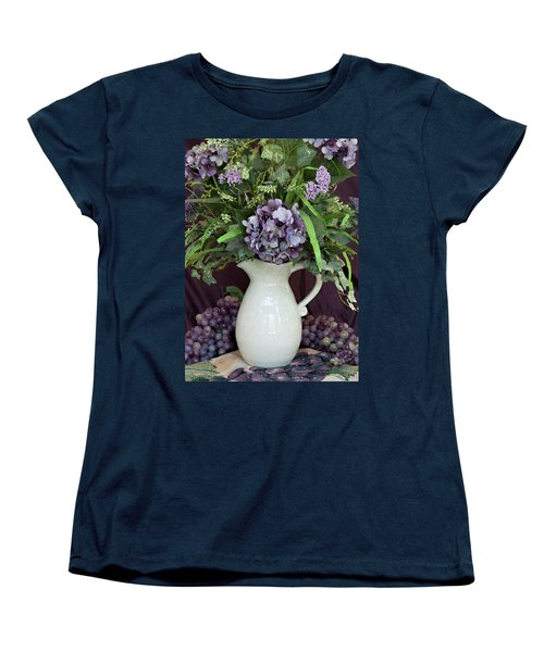 Women's T-Shirt (Standard Cut) featuring the photograph Purple Pleasures by Sherry Hallemeier