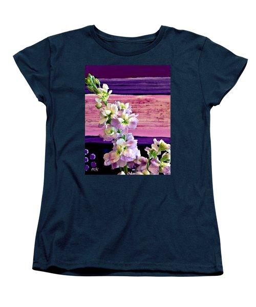 Purple Purple Everywhere Women's T-Shirt (Standard Cut) by Marsha Heiken