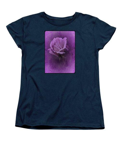 Purple Rose Of November No. 2 Women's T-Shirt (Standard Cut) by Richard Cummings
